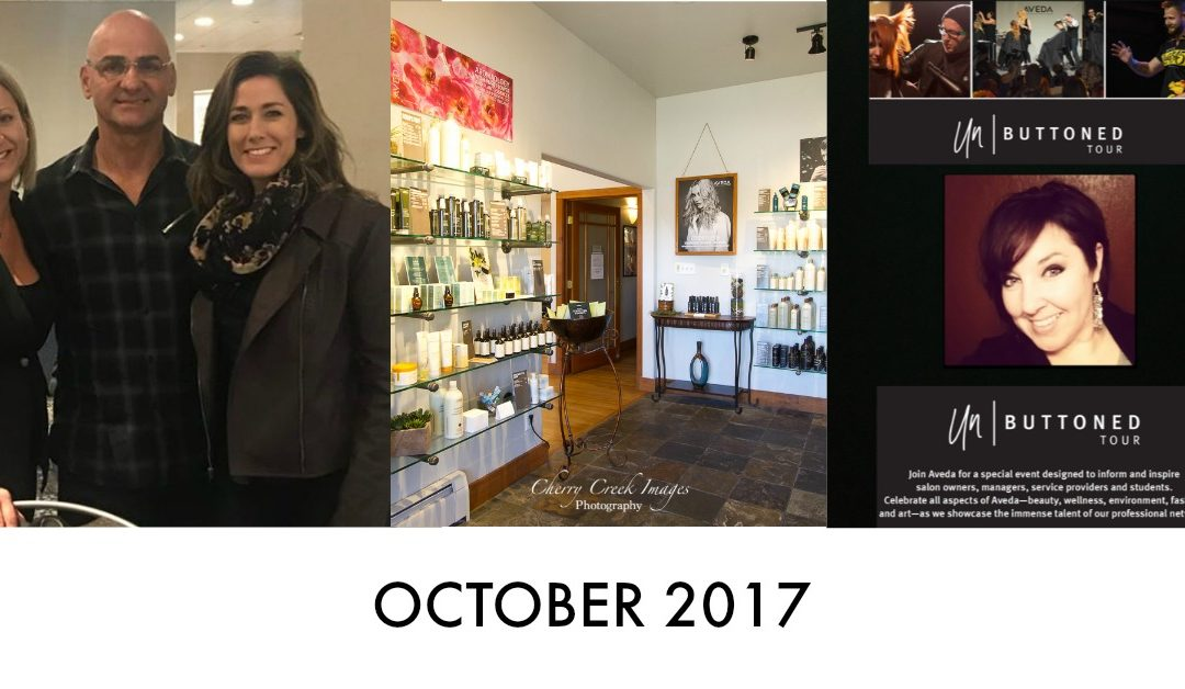 Halloween, #AvedaArtist, Our New Salon, Before and Afters, Our App, Advanced Color Class | October 2017