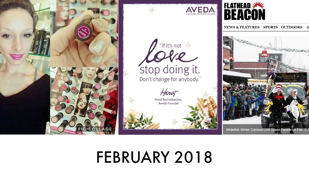 Valentine's Day, New Esthetician, New Lip Collection, Our Salon, Whitefish Winter Carnival, Before and Afters | February 2018
