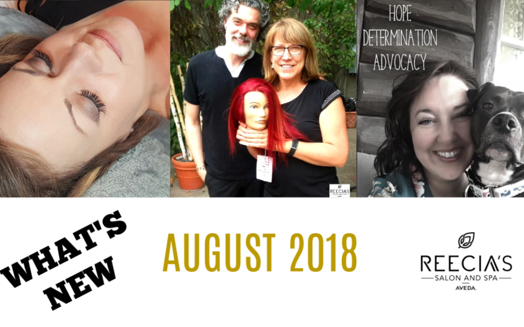 Our August Highlights: Lash Love, Advanced Aveda Color Class, Get Your Shine On, Aveda Pure Privilege, Before and Afters, Reviews