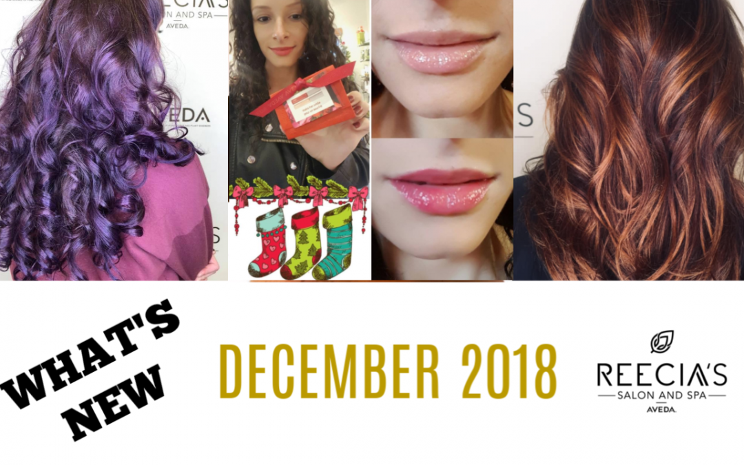 "Our December Highlights: Chelcie is Back, Aveda Custom Gift Sets, ""Make Her Smile"" Glosses , Before and Afters, Christmas Gift Stockers"