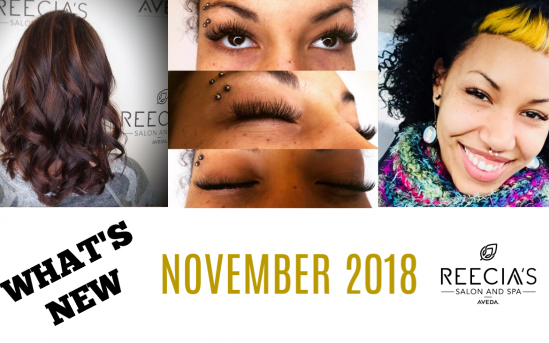 Our November Highlights: Happy Thanksgiving, Aveda Pure Pro Event, Ladies Night Out, Before and Afters, Reviews