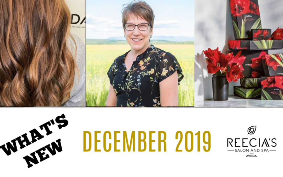 Our December 2019 Highlights: Happy Holidays, Gift Sets, Nutriplenish Hair Hydration, Congratulation Daphne, Debbie is back, Before and Afters