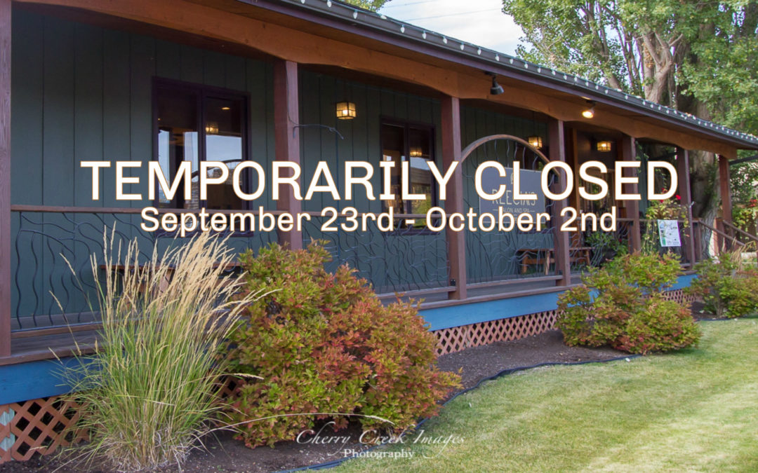 Temporarily Closed from September 23rd to October 2nd