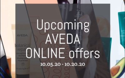 Reecia's Salon – Upcoming ONLINE Aveda Offers and Savings – 10.05.20 – 10.20.20